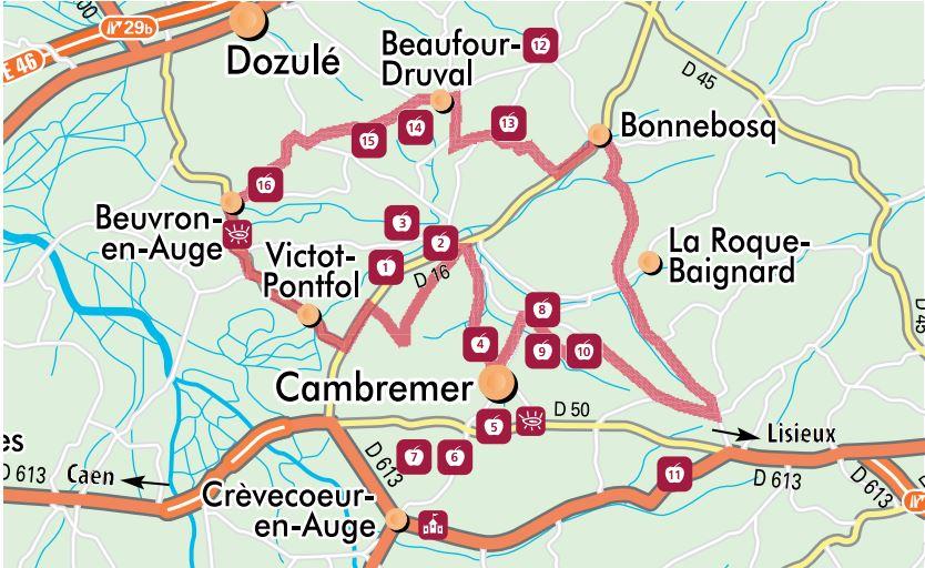 carte route du cidre
